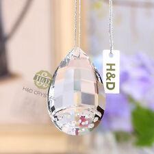 5PCS Hanging Cut Glass Crystal Chandelier Scarab Prism Feng Shui Pendants 50mm