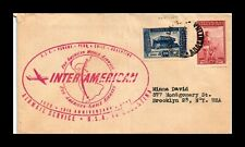 DR JIM STAMPS INTER AMERICANA AIRMAIL FLIGHT ARGENTINA COVER