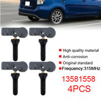 4PCS New 13581558 TPMS Tire Pressure Sensor Fits For Chevy GM Buick Cadillac