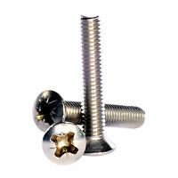 M6 ( 6mm ) A2 Stainless Steel Pozi Raised Countersunk Machine Screws DIN 966