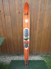 "VINTAGE Wooden Single Water Ski Waterski 68"" Long SEA GLIDER CONCOURS HIGH SPEED"