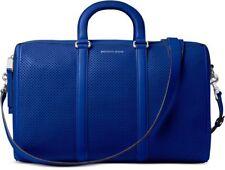 Michael Kors Libby Pequeño cartera azul Eléctrico cuero perforado bolso