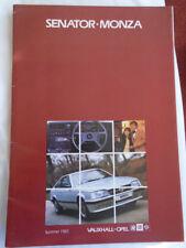 Provided Prospekt Brochure Opel Senator 1983 Parts & Accessories Manuals & Literature