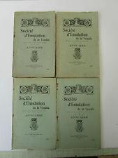 SOCIETE D'EMULATION de la VENDEE années 1932 à 1935. complet en 4 vol. très rare