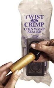 Twist-n-Crimp 2 PC Coin Wrapper Crimper Set NEW Seals End of ShotGun Paper Roll