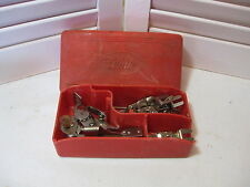 Vintage Griest Sewing Machine Attachments in White Sewing Machine Red Case