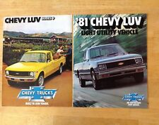 Two 1979 and 1981 Chevrolet LUV Pickup Truck  Dealer Sales Brochures NOS