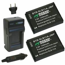 Wasabi Power Battery (2-Pack) and Charger for Samsung SLB-11A