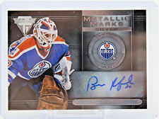 Bill Ranford MM-73 Panini Metallic Marks Silver Auto Autographed Signed Oilers