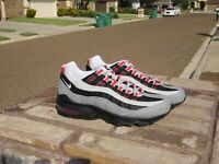 Nike Air Max 95 (GS) 905348 036 Particle Grey/ White-black Size 7Y / 7 M / 8.5 W