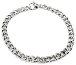 "Armband, Edelstahl, Design ""Panzerarmband"", Silberfarben, Damen"