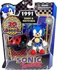 Sonic The Hedgehog 20th Anniversary 1991 Jazwares Moto Bug 3.5 Inch Figure Set