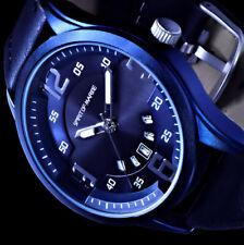 Spirit of Marine Herren Armband Uhr Blau Datum