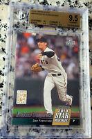 MADISON BUMGARNER 2010 Upper Deck Star Rookie Card RC BGS 9.5 10 Giants MVP HOT