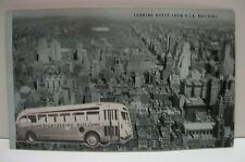Vtg New York Times Square Sightseeing Bus Adv Postcard Looking North From Rca