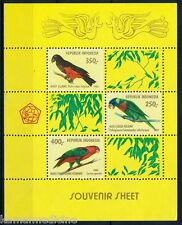 Indonesia 1980 MNH SS, Parrot, Birds -Z3
