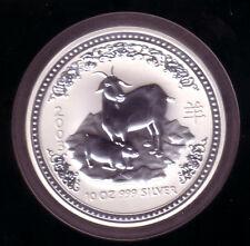 Australia 2003 - 10 onzas de plata lunar I-cabra-rara vez!