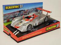 Slot Car Scx Scalextric 6036 Audi R8 #8 Champion Lemans 2000