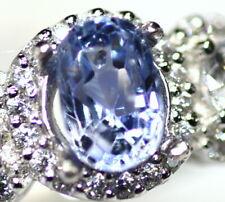 Natural 1.38 Ct Natural Ceylon Blue Sapphire Loose Stone Oval Gemstone  X