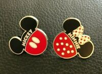 💗 Lot of Qty. (2) Mickey and Minnie Mouse Iconic Disney Pins - Classic Patterns