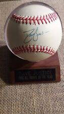DAVE JUSTICE SIGNED 1990 ROOKIE YEAR OFFICIAL NATIONAL LEAGUE BASEBALL