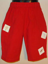 New 100% Cotton Red Boys Girls Kids Summer Holiday Shorts Large 8-10 Years
