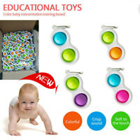 Baby Simple Dimple Sensory Toys Silicone Kids Fidget Toy Adult Keyring Gifts