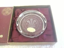 Wedgewood Glass Paperweight Charles and Diana Royal Wedding Boxed.