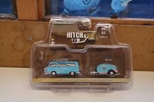 GREENLIGHT 1/64 1972 Volkswagen Type 2 and Teardrop Trailer 32080 T12