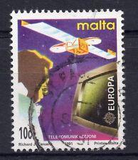 MALTA = 1991 EUROPA, Europe in Space. 10c Eurostar Satellite. SG888. Fine Used.
