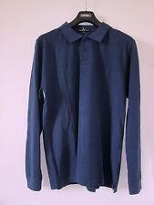Gianfranco FERRE beachwear Luxus Designer Polo Hemd Shirt Gr 50 blau NEU