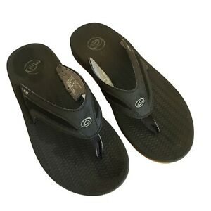 Reef Flex Water-Friendly Flip Flop Sandals Men's US 11 Black/Silver