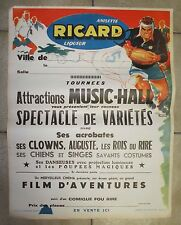 Anciene Lithographie Ricard Rugby vers 1950 ( LG009 )