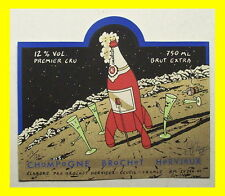 ➡ Etiquette Champagne EXEM ☆ Tintin Fusée ☆ 120 ex n&s ☰