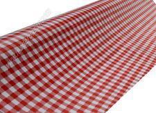 Toile cirée vichy rouge épais:0,25 mm / largeur:140 cm