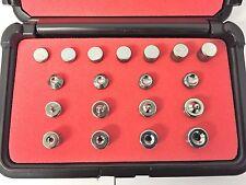 Rivet Squeezer Set Kit 20 pcs Dimple Dies AN426, Squeezer Sets AN470 Flush Sets