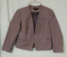 J Crew women's size 6 grey pinstripe wool blazer