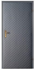 Türverkleidung Türpolsterung Türpolster Schallschutz Wärmedämmung Tür grau Neu