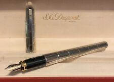 S.T. Dupont Fidelio Fountain Pen Lignes Recoupees (Intersected Lines) With Box