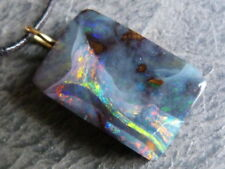 Pendentif or 18ct, 1 opale boulder, multicolore