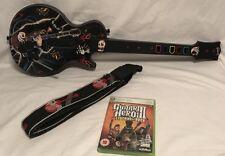 Guitar Hero Guitarra Gibson Les Paul Para Xbox 360 + leyendas del rock Juego Y Correa