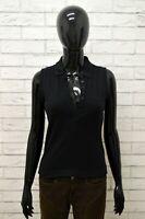 FILA Maglia Donna Maglietta Polo Shirt Woman Black Cotone Nero Taglia Size S