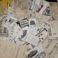Ephemera Lot Labels words fonts paper vintage for junk journaling arts crafts