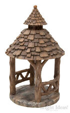 Vivid Arts - MINIATURE WORLD FAIRY GARDEN HOME ACCESSORIES - Wooden Gazebo