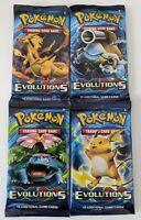 Pokemon TCG XY Evolutions Booster Pack Lot 4x - Full Art Set - Factory Sealed