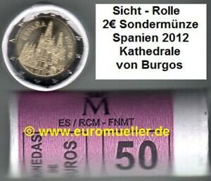 Spanien Rolle 2 Euro Gedenkmünze  2012 - Burgos