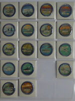 1960's Krun-Chee Potato Chips Warships Coins Almost set of 17 of 20 Blue Var.