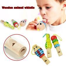 Tier Holzspielzeug Cartoon Tier Pfeife Schlüssel Anhänger Kinder Bildung Musik