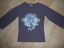 Tee-shirt marron fille 5 ANS motif indien
