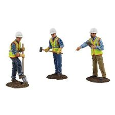 First Gear Diecast Metal Construction Figures 90-0481 3 Piece Set 1:50 Scale
